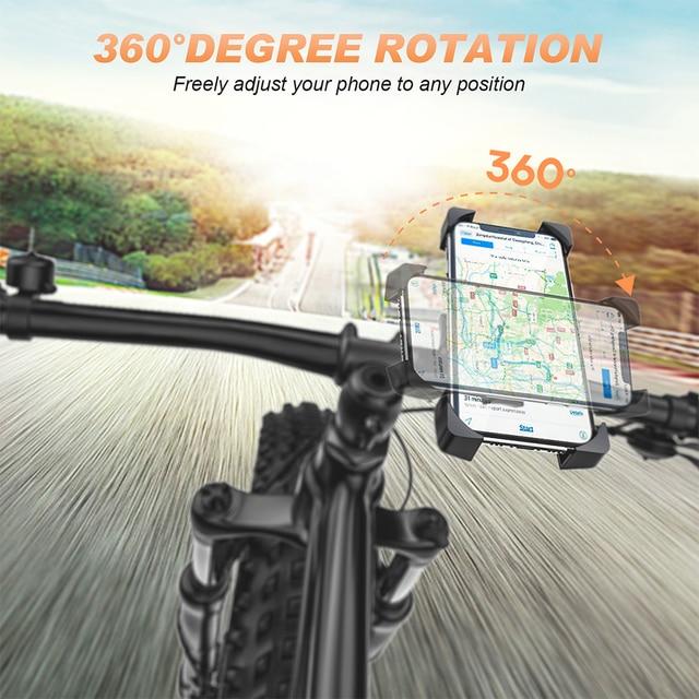 Bike Phone Holder Universal Motorcycle Bicycle Phone Holder Handlebar Stand Mount Bracket Mount Phone Holder For iPhone Samsung 2