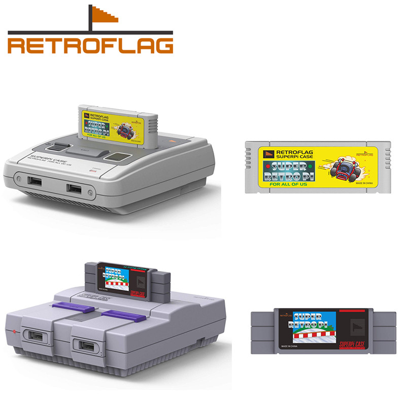 Retroflag Snes Heatsink Game-Cartridge Raspberry Coolling-Fan Superpi 3b-Plus with  title=
