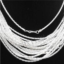 Lotes 20 pces prata/banhado a ouro oco cobra corrente colar fecho longo, 20