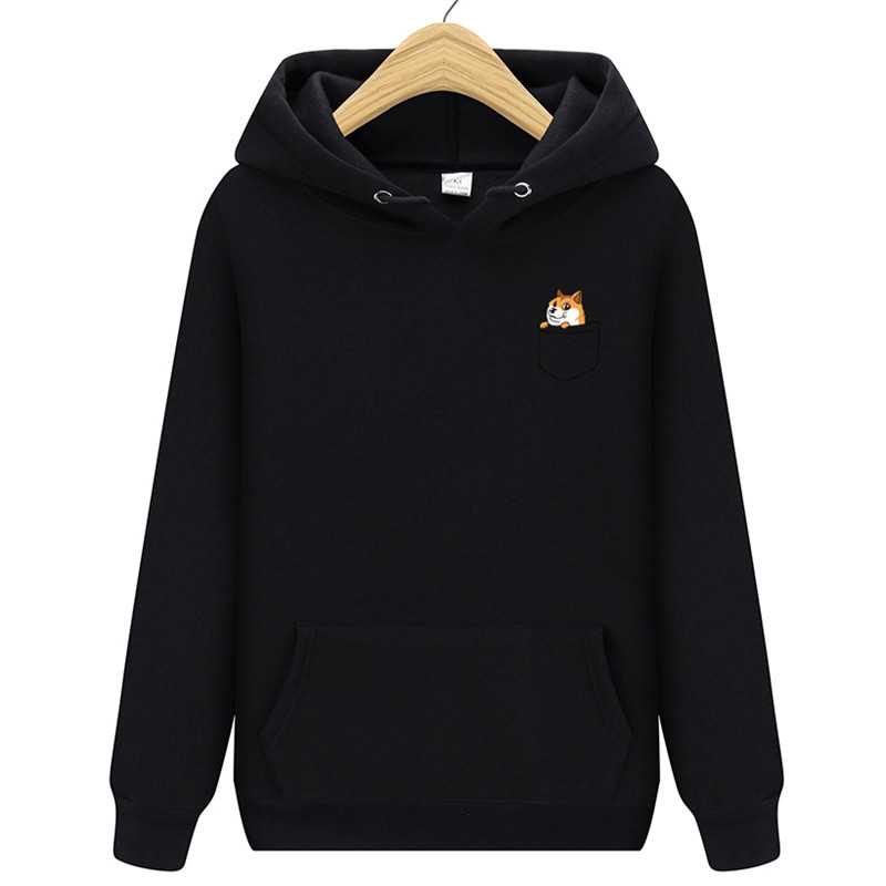 2019  New Brand Pocket Cat Letter Print Hoodie Autumn And Winter New Hoodie Men's Fleece Hooded Jacket