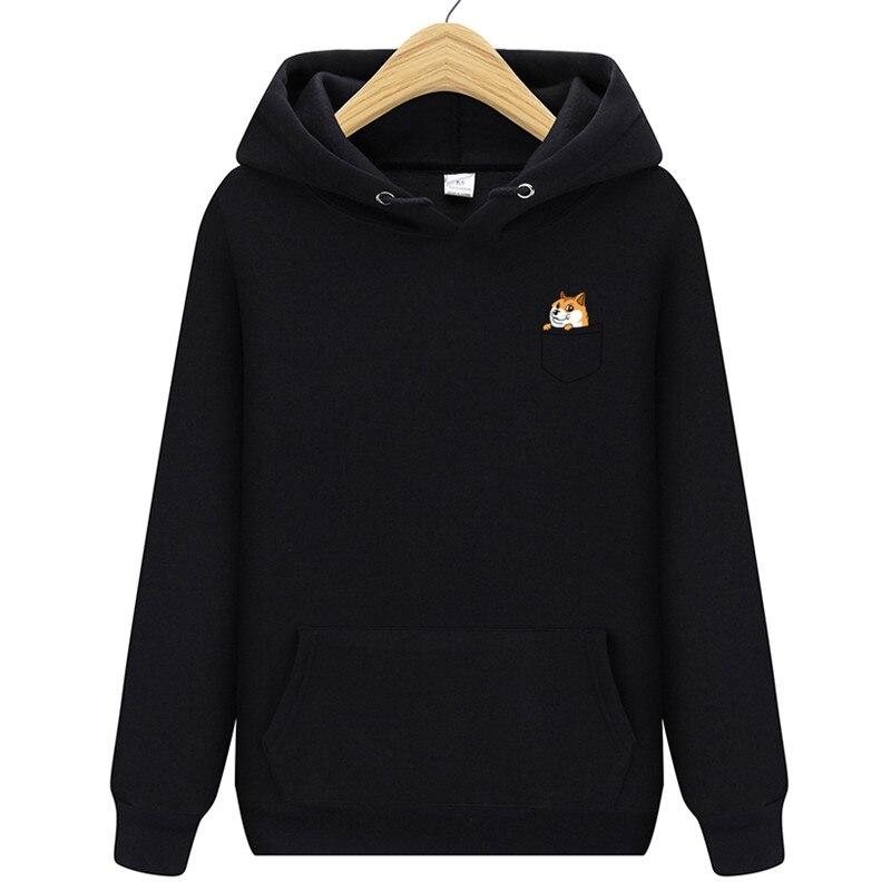 2019  New Brand Pocket Cat Letter Print Hoodie Autumn And Winter New Hoodie Men's Fleece Hooded Jacket