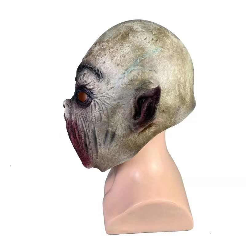 No mouth strange mask Nozzle zombie stiff mask Halloween horror masks adult role-playing party decoration props