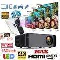 3 type W80 HD Projecteur HDMI/AV/USB/SD/VGA Soutien Dolby sans fil/1 + 8GAndroid 6.0/basique 2300 Lumens Euro Règlement