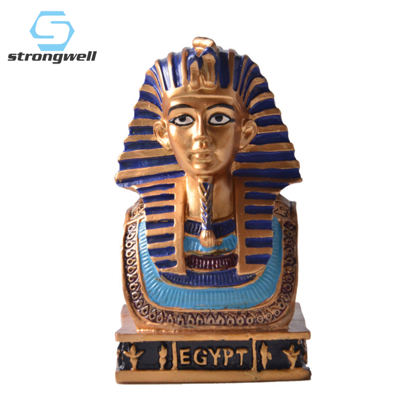Strongwell Egyptian Pharaoh Abstract Sculpture Resin Figurines Statue Desk Decor Home Decoration Accessories Birthday Gifts