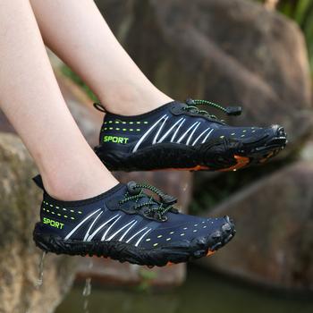 Miękkie oddychające damskie brodząc sportowe buty męskie odporne na zużycie plażowe buty do wody Unisexs szybkoschnące antypoślizgowe buty Upstream Sneakers tanie i dobre opinie MAIJION CN (pochodzenie) Dobrze pasuje do rozmiaru wybierz swój normalny rozmiar Spring2019 elastyczna opaska Początkujący