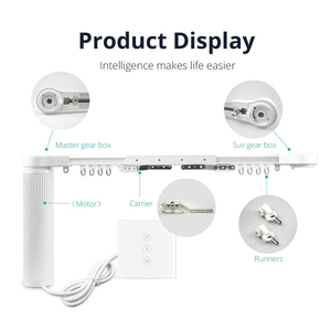 Image 5 - Intelligent House Motorized Smart Curtains With Curtain Track Rod Wall Switch Alexa Google Home tuya App Control