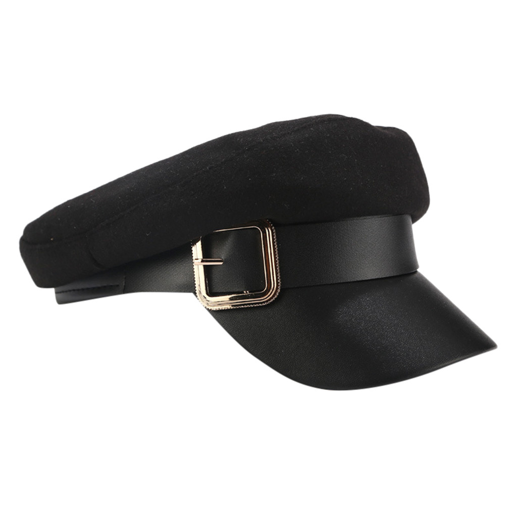 SAGACE Belt Buckle Wild Navy Hat Retro Cap Outdoor Flat Cap  Classic Temperament Women 2019 New Hot Fashion