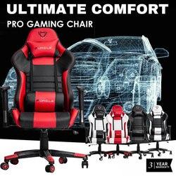 Furgle WCG gra krzesło do pracy na komputerze wysokiej jakości regulowane krzesło biurowe skórzany fotel gamingowy czarny do domowego biura gra konkurencyjna w Krzesła biurowe od Meble na
