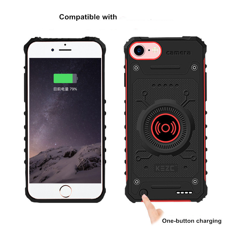 External Powerbank Charging  Power Bank For iPhone 7 8 6 6s Wireless Phone Battery Charger Cases