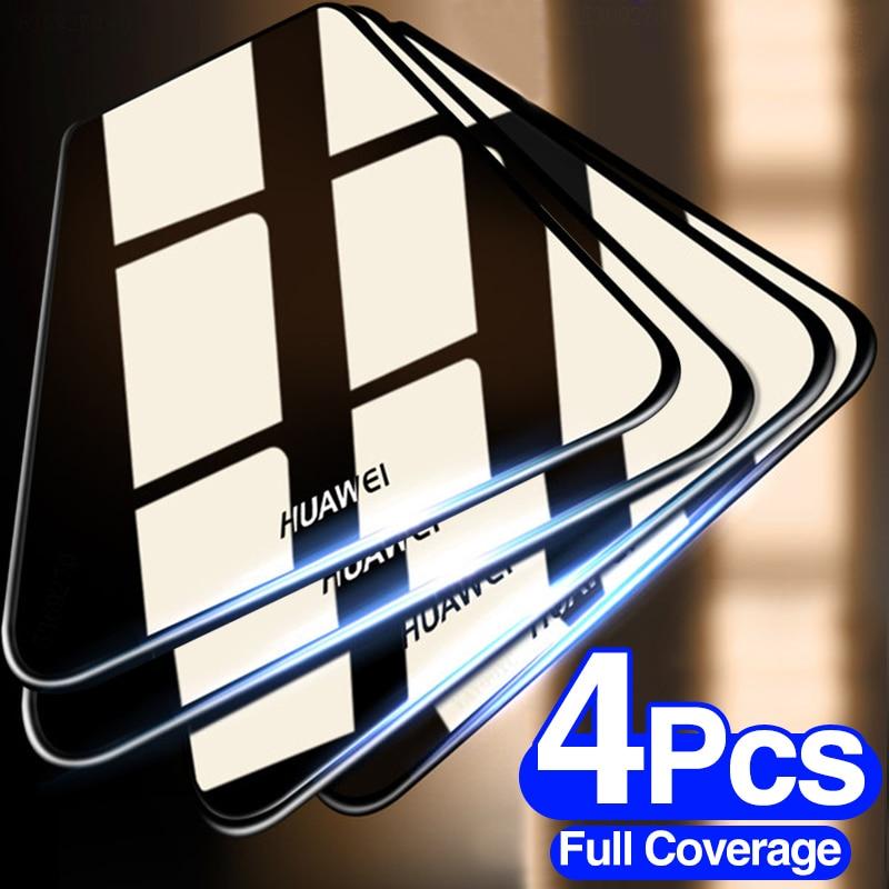 4 pçs vidro de proteção temperado para huawei p20 p30 p40 lite p smart 2019 protetor de tela para huawei companheiro 30 20 lite p20 pro filme