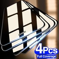 4 pezzi di vetro protettivo temperato per Huawei P20 P30 P40 Lite P Smart 2019 pellicola protettiva per Huawei Mate 30 20 Lite P20 Pro Film