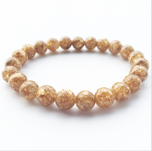 Fashion New Best Selling Jewelry 8mm Gold Foil Beads Ladies Elastic Accessories Hand-woven Fine