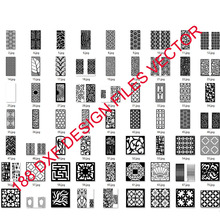 188 metal door window decor hollow sheet dxf format 2d vector design drawing for CNC laser plasma cutting files collection