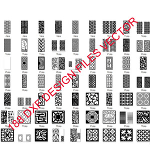 Image 1 - 188 metal door window decor hollow sheet dxf format 2d vector design drawing for CNC laser plasma cutting files collection