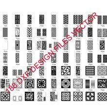 Láminas huecas de metal para decoración de puertas y ventanas, formato dxf, diseño de vector 2d, para colección de archivos de corte por plasma láser CNC, 188