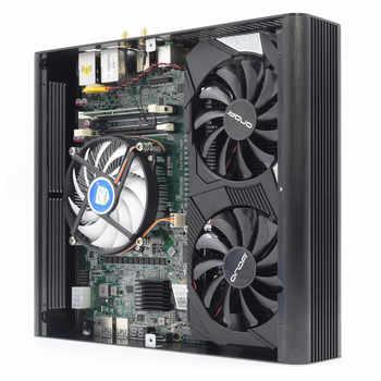 Independent Graphics card Intel Core i7-7920HQ NVIDIA GeForce GTX 1650 4G Windows Linux gaming computer DVI M2 3 display MINI pc