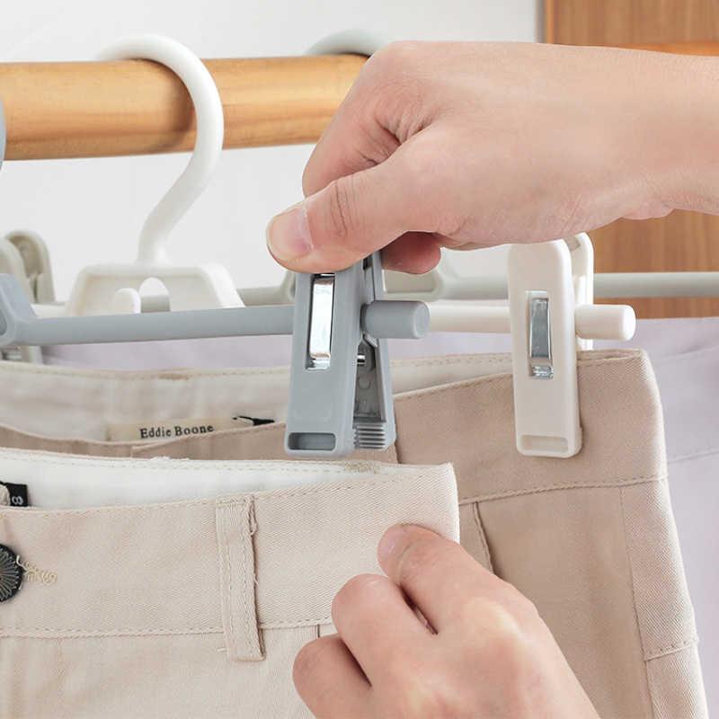 Nieuwe Verstelbare Broek Clip Plastic Broek Clip Hanger Rotary Familie Universele Kinderen Volwassen Broek Broek Rek Opbergrek