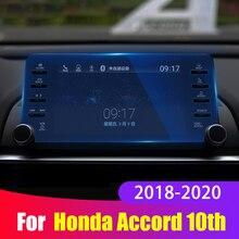 Para honda accord x 10th 2018 2019 2020 aço protetor de tela navegação do carro instrumento painel monitor tela película protetora