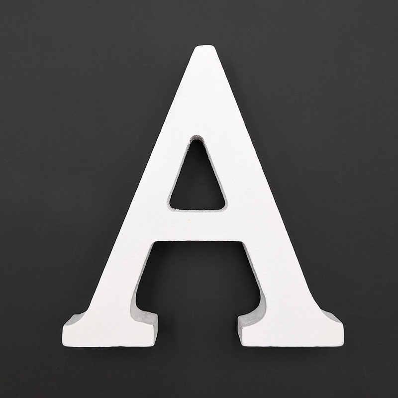 28 стилей украшения для домашнего декора толстый деревянный белый буквенный Алфавит Свадебный день рождения 8 см * 1,2 см Горячая продажа Бесплатная доставка