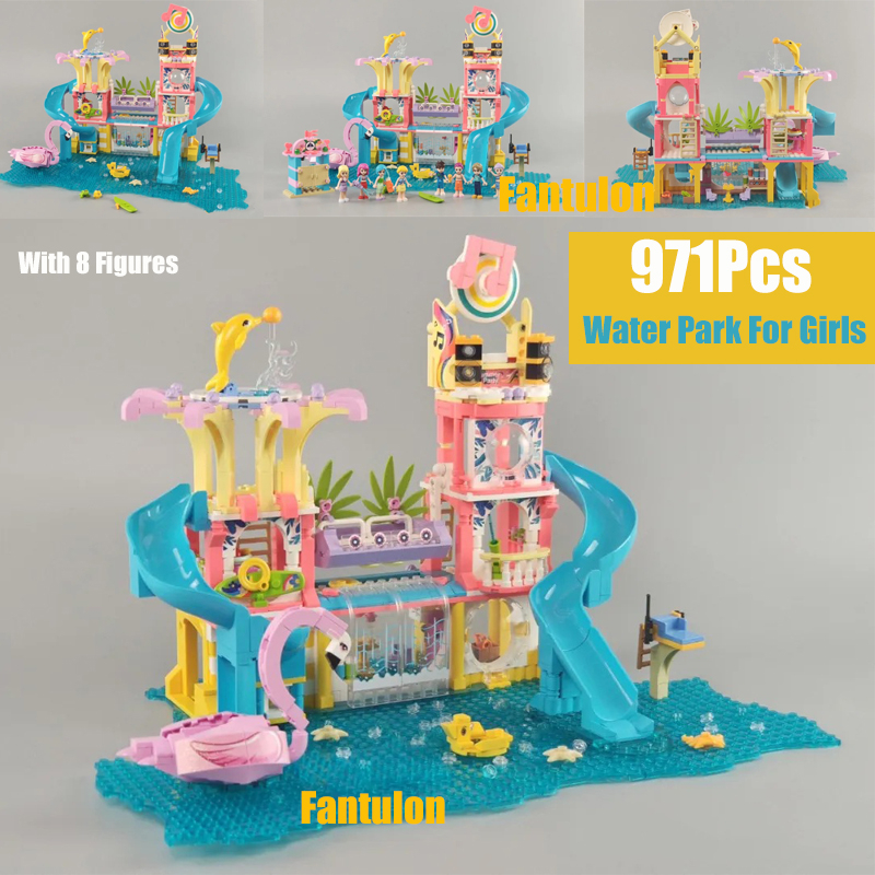 2020 NEW 971PCS Water Park For Girls Friends With 8 FIGURES Building Blocks Sets Brick Alana Gift Toys For Children image