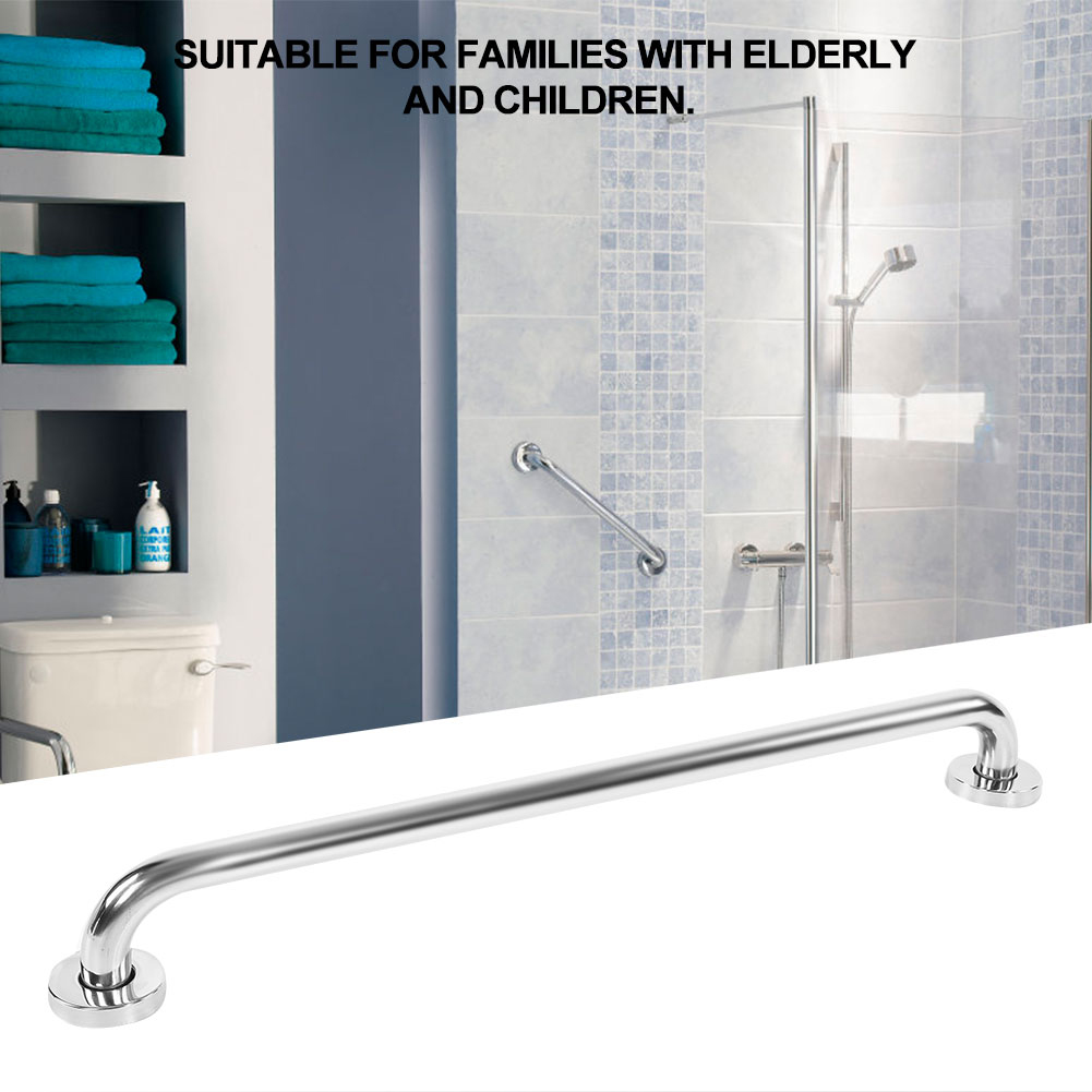 60cm Toilet Safety Handrail Disabled Stainless Steel Bathroom Bathtub Handle Elderly Portable Support Grab Bar Wall Mounted