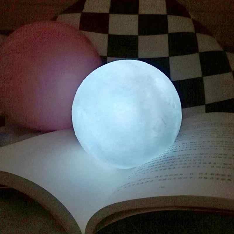 실리콘 문 램프 화이트 LED 밤 빛 홈 키즈 침실 장식 선물 10CM 미니 문 램프 밤 빛