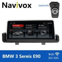 Navivox carro monitor de navegação gps para bmw série 3 e90 e91 e92 e93 multimídia rádio do carro bmw e90 android 10.0 dvd gps autoradio
