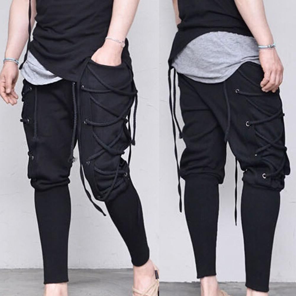 Men Pants  Sweat Pants Sports Sweatpants Casual Drawstring  Pants Elastic Men's Slim Long Pants Men Casual Pants