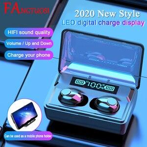Image 1 - Fangtuosi 2020 Mới Âm Thanh Nổi Bluetooth Không Dây Thể Thao Tai Nghe Bluetooth Chụp Tai Không Dây Tai Nghe Có 2200 MAh Đế Sạc