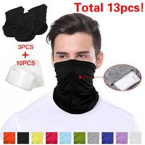 Masque protecteur cou Bandanas avec filtre écharpes Sport moto bandeau respirant Anti-UV masque masque adulte enfants