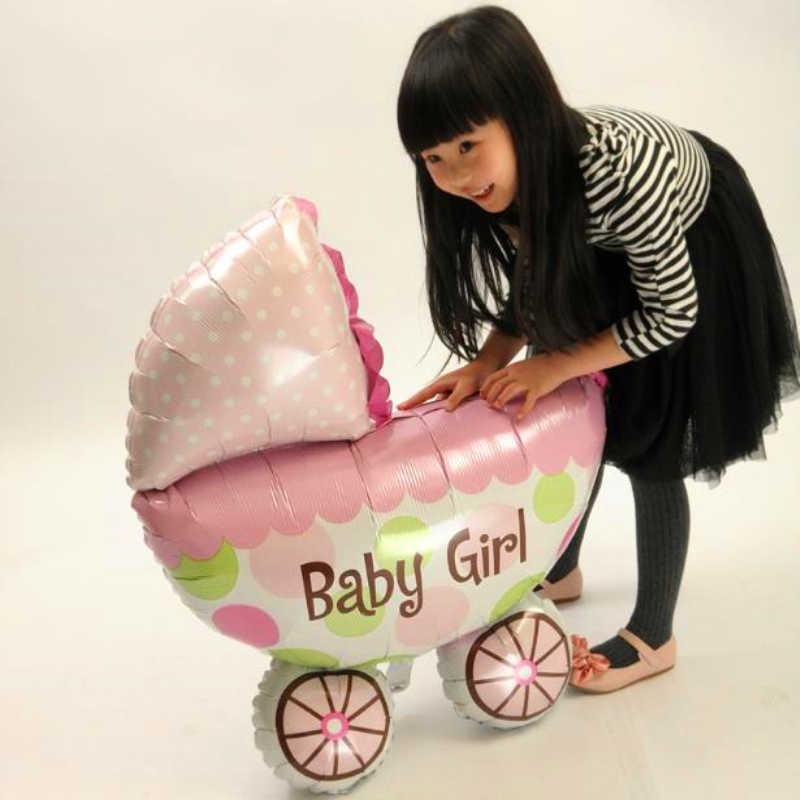 Globos 1 piezas Rosa lindo, bebé, niña, niño, cochecito de bebé ducha cumpleaños fiesta ción regalo de Año Nuevo
