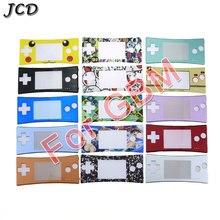 JCD przednia obudowa skrzynki pokrywa płyty czołowej dla GBM obudowa przednie etui część naprawcza dla Gameboy Nintendo dla GBM Micro System