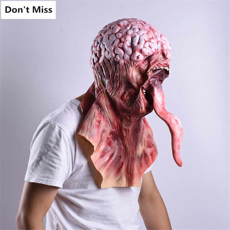 Zombie Horor Masker Halloween Dekorasi Menyeramkan Masker untuk Cosplay Perlengkapan Pesta Realistis Topeng Hantu Maskara De Lateks Realista