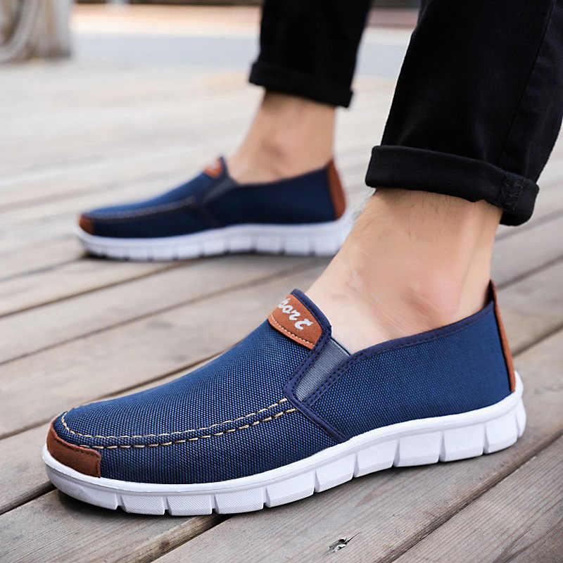 Giày Vải Nam Mới Thoải Mái Giày Nam Giày Nam Phẳng Cho Nữ Giày Nam Đen 2020