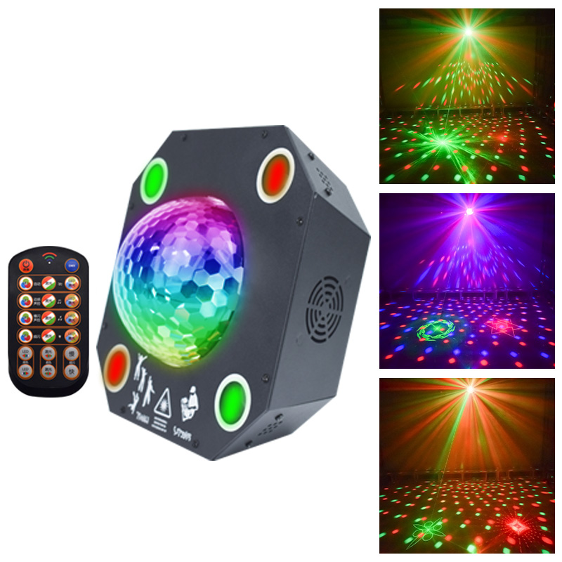 YSH Disco Laser DJ Lights RGB Stage Decoration Projector LED Magic Ball Laser Party Light Dmx Remote Control For KTV Wedding