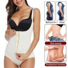 Women Bodysuit Latex Full Body Shaper Briefer Shapewear Panties Waist Shaper Tummy Control Underwear Slimming
