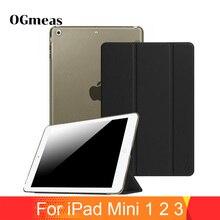 SIBAINA Luxury Silk Felt Leather Case for iPad Mini 1 2 3 Smart Tablet Case Folio Stand three fold Cover Flip fundas capa цены