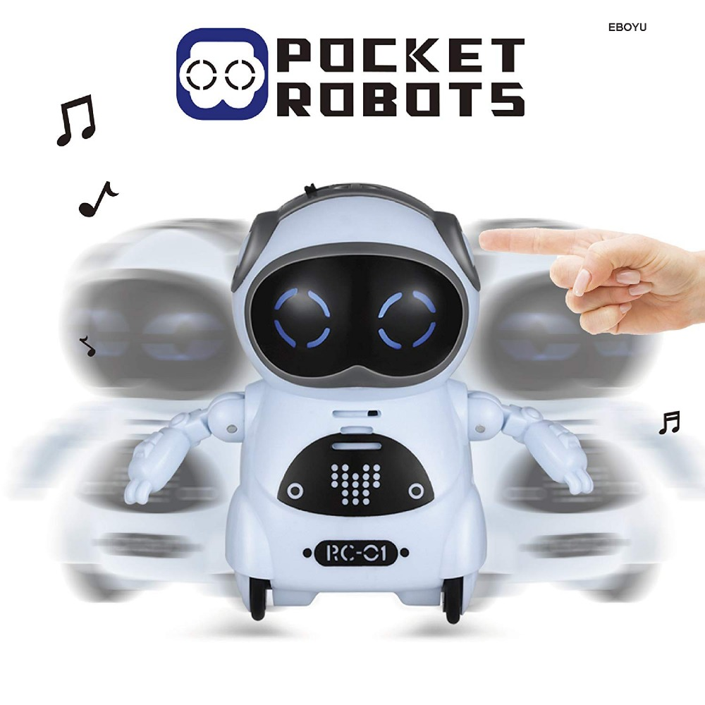 Pocket Robot Talking Interactive Dialogue Voice Recognition Record Singing Dancing Telling Story Mini Intelligent Robot Toy 2