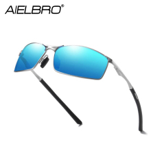 AIELBRO Classic Driving Photochromic Sunglasses Men Polarized Chameleon Discoloration Sun glasses For Men Anti-glare Goggles xiwang new colour coloured large frame sunglasses retro european and american fashion sunglasses anti ultraviolet and anti glare
