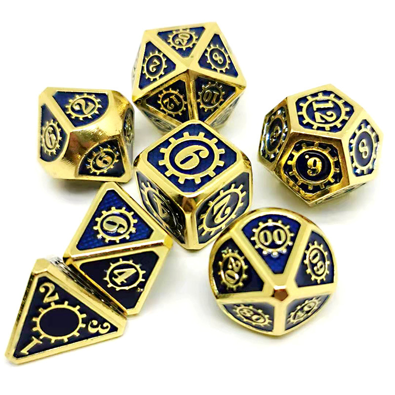 DND Dice Set - <font><b>Metal</b></font> Polyhedral Dungeons and Dragons Dice Sets with Dice Bag for RPG Gaming Including <font><b>D20</b></font> Craft Dice image