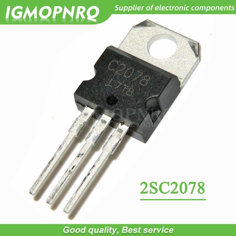 10PCS 2SC2078 C2078 27MHz RF  Amp Transistor  TO-220 Package New Original