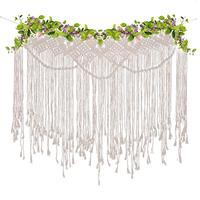 Wedding Woven Tapestry Bohemian Tassel Lace Wall Hanging Chic Wedding Backdrop Party Window Covering Home Apartment Room Decor