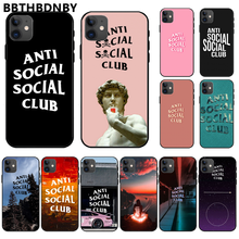 Anti Social Social Club Cover Black Soft Shell Phone Case For iphone 11 pro max x xs xr 7 8 plus 6 6s 5 5s 5se(China)