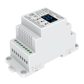 Din rail mounted 4CH PWM constant voltage DMX RDM decoder D4 DC12V 24V DMX512 LED Controller for RGB RGBW LED Tape lamp цена 2017