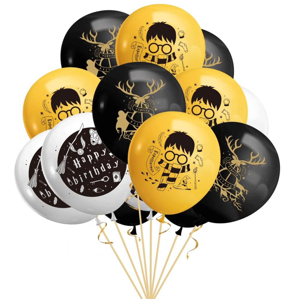 6pcs/10pcs/15pcs Harried balloons Potter theme balloon Set magic child Birthday party Decoration supplies