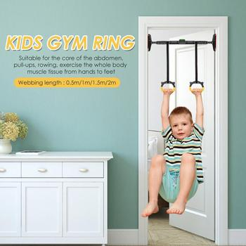 Kids Gymnastic Rings Plastic with Adjustable Straps Gym Pull up Fitness Exercise Equipment of Children