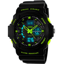 New Fashion men sports watches LED bright Watches quartz wristwatches Digital Clock Military Camouflage Waterproof Watch