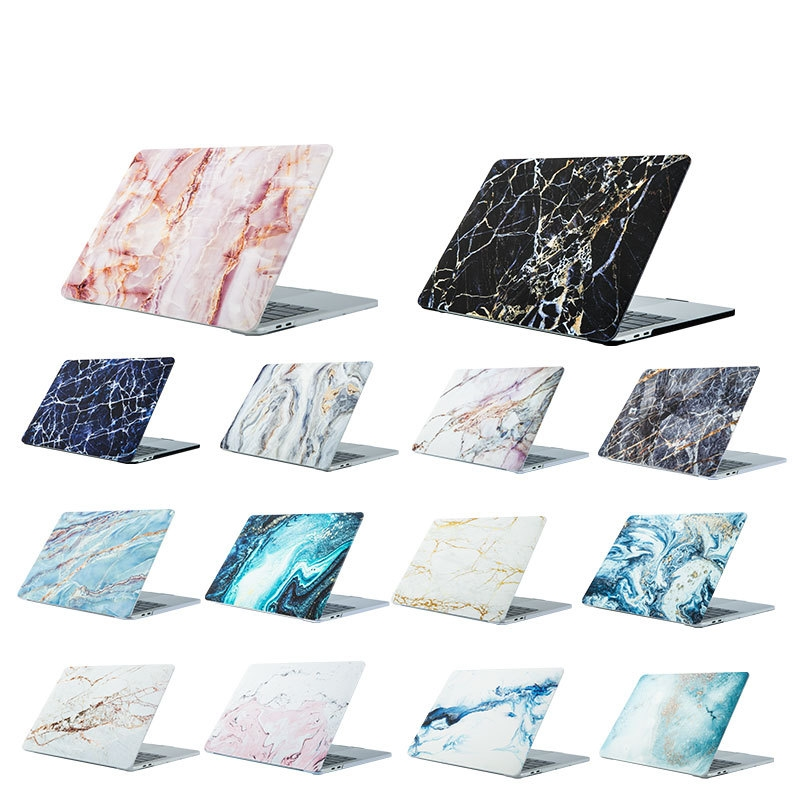 Marble Laptop Case For Macbook Air Pro Retina 11 12 13 15 Clear Hard Cover For Mac Book 13 15 Inch A1466 A1932 A1708 A1502 A1990