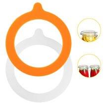 10 pçs silicone jar gaxetas armazenamento de alimentos frascos substituição hermético à prova de vazamento de borracha selos anéis se encaixa boca regular canning frascos