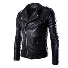 HEFLASHOR Autumn Winter Fashion Motorcycle Jackets Leather Fashion Moto